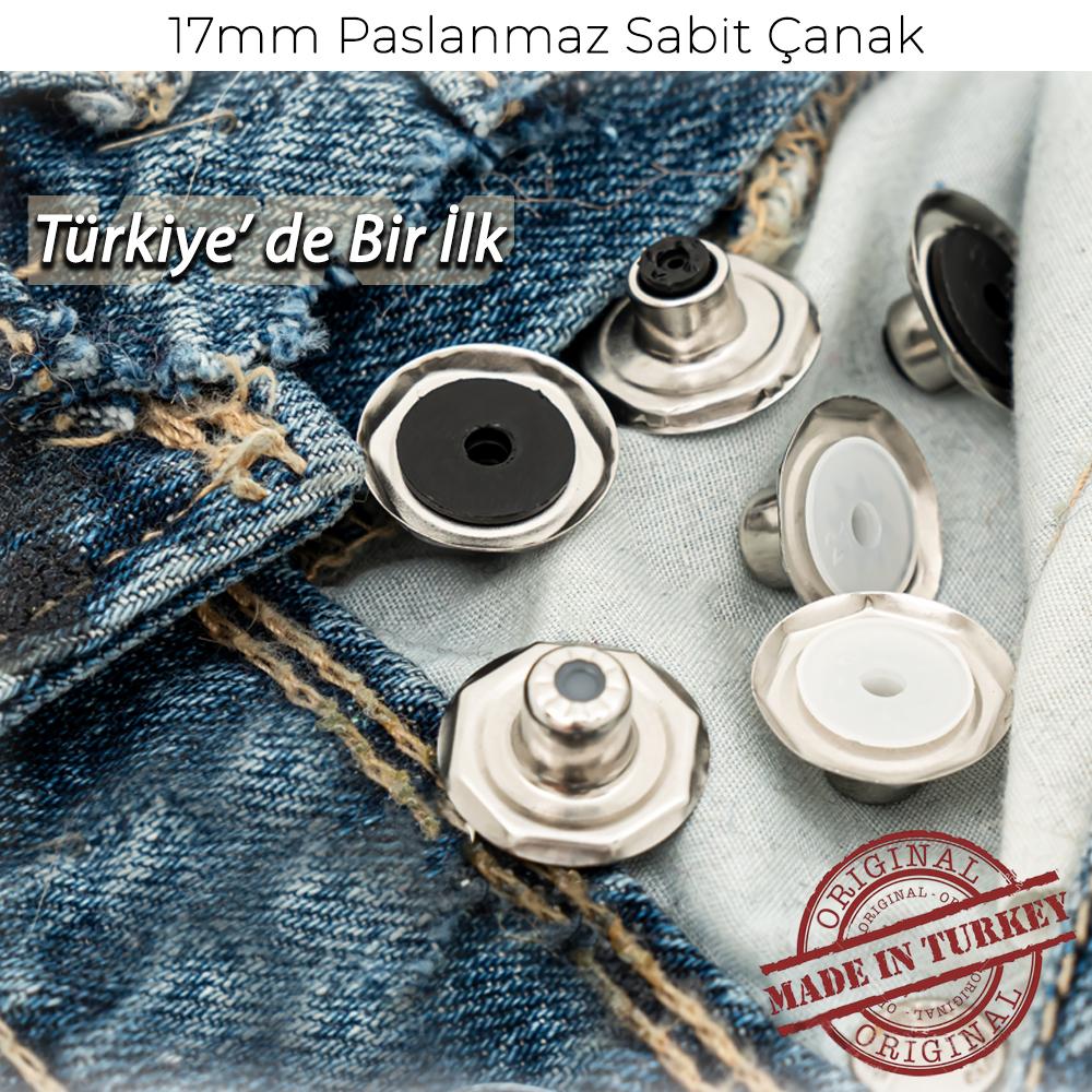 Yeni Üretim - 17mm Paslanmaz Sabit Çanak
