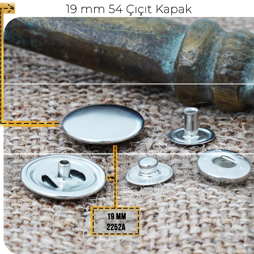 Yeni Üretim - 19 mm 54 Çıtçıt Kapak