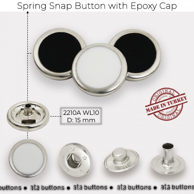 New Production - Spring Snap Button with Epoxy Cap