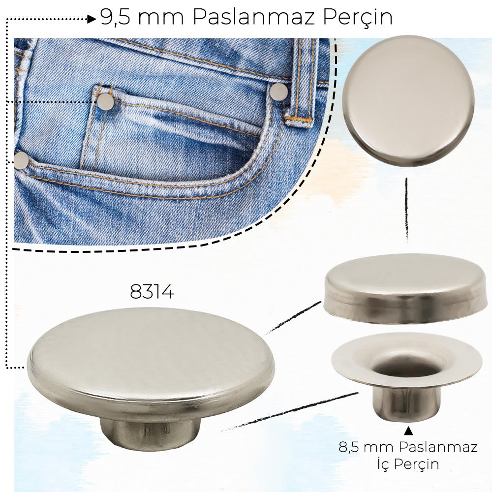 Yeni Üretim - 9,5 mm Paslanmaz Perçin