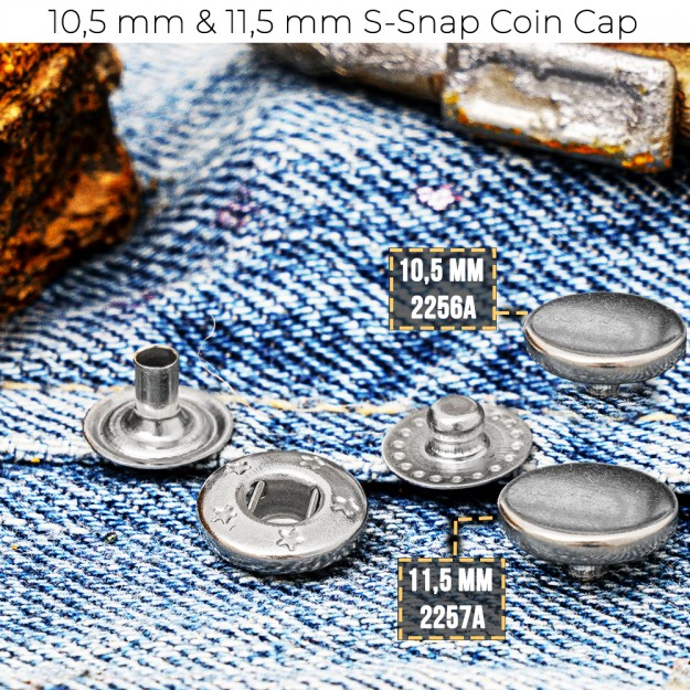 New Production - 10,5 mm & 11,5 mm Coin Cap S-Snap