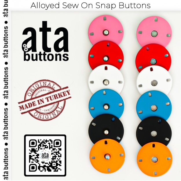 New Production - Alloyed Sew-On Pistole Colored Snap Buttons